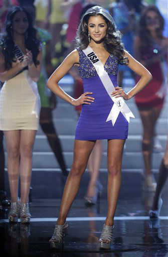 "<div class=""meta ""><span class=""caption-text "">Miss USA Olivia Culpo steps out as she is named one of the final 16 contestants during the Miss Universe pageant, Wednesday, Dec. 19, 2012, in Las Vegas.  (AP Photo/ Julie Jacobson)</span></div>"