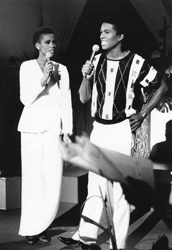 FILE - In this July 25, 1984, file photo, Whitney Houston, left, and Jermaine Jackson sing during a rehearsal for the CBS television soap opera &#34;As the World Turns&#34; in New York. Publicist Kristen Foster said, Saturday, Feb. 11, 2012, that singer Whitney Houston has died at age 48.   &#40;AP Photo&#47;Marty Lederhandler, File&#41; <span class=meta>(AP Photo&#47; Marty Lederhandler)</span>