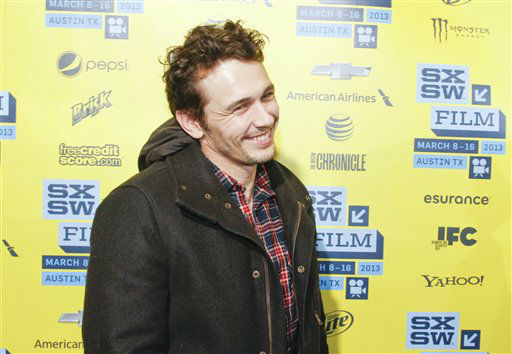 James Franco arrives at the U.S. premiere of &#34;Spring Breakers&#34; at the SXSW Film Festival, on Sunday, March 10, 2013 in Austin, Texas.   <span class=meta>(Photo&#47;Jack Plunkett)</span>