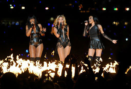 "<div class=""meta image-caption""><div class=""origin-logo origin-image ""><span></span></div><span class=""caption-text"">Beyonce performs with Kelly Rowland, left, and Michelle Williams, right, of Destiny's Child, during the halftime show of the NFL Super Bowl XLVII football game between the San Francisco 49ers and the Baltimore Ravens, Sunday, Feb. 3, 2013, in New Orleans.  (AP photo)</span></div>"