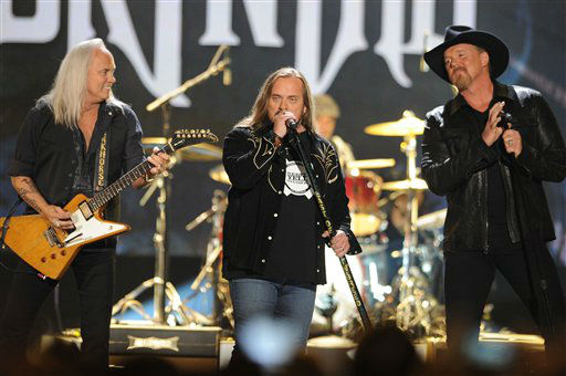 Lynyrd Skynyrd and Tracie Adkins perform during the American Country Awards on Monday, Dec. 10, 2012, in Las Vegas. &#40;Photo by Al Powers&#47;Powers Imagery&#47;Invision&#47;AP&#41; <span class=meta>(Photo&#47;Al Powers)</span>