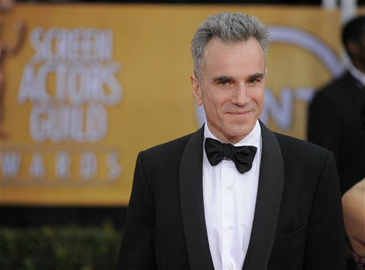 Daniel Day Lewis arrives at the 19th Annual Screen Actors Guild Awards at the Shrine Auditorium in Los Angeles on Sunday Jan. 27, 2013. &#40;Photo by Chris Pizzello&#47;Invision&#47;AP&#41; <span class=meta>(Photo&#47;Chris Pizzello)</span>