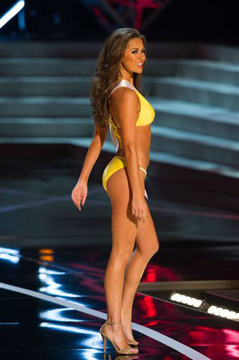 In this photo provided by the Miss Universe Organization,  Miss Louisiana USA 2013, Kristen Girault,  competes in her swimsuit during the  2013 Miss USA Competition Preliminary Show in Las Vegas on Wednesday June 12, 2013.   She will compete for the title of Miss USA 2013 and the coveted Miss USA Diamond Nexus Crown on June 16, 2013.  &#40;AP Photo&#47;Miss Universe Organization, Darren Decker&#41; <span class=meta>(AP Photo&#47; Darren Decker)</span>
