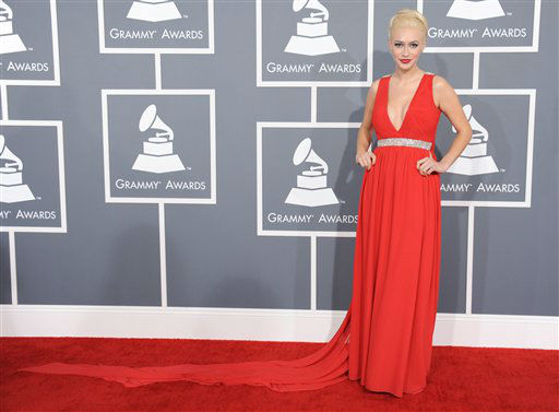 Kaya Jones arrives at the 55th annual Grammy Awards on Sunday, Feb. 10, 2013, in Los Angeles. <span class=meta>(AP photo)</span>