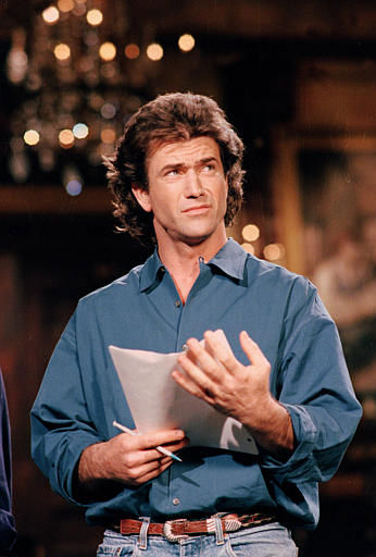 People&#39;s Sexiest Man Alive 1985: Mel Gibson. Australian actor Mel Gibson rehearses his role as host of NBC-TV&#39;s &#34;Saturday Night Live&#34; at Studio 8H at Rockefeller Center in New York City on Thursday, March 30, 1989.  Gibson makes his debut Saturday as host of the comedy show.  <span class=meta>(AP Photo&#47; MARK LENNIHAN)</span>