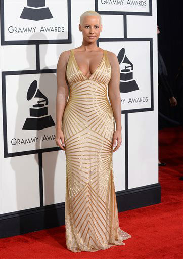 "<div class=""meta ""><span class=""caption-text "">Amber Rose arrives at the 56th annual Grammy Awards at Staples Center on Sunday, Jan. 26, 2014, in Los Angeles.   (Photo/Jordan Strauss)</span></div>"