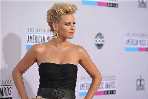 Jenny McCarthy arrives at the 40th Anniversary American Music Awards on Sunday, Nov. 18, 2012, in Los Angeles. (Photo by John Shearer/Invision/AP)