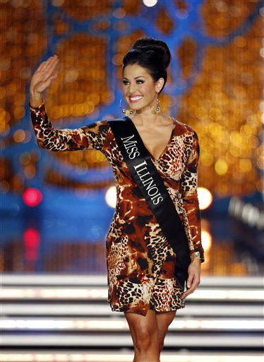 "<div class=""meta ""><span class=""caption-text "">Miss Illinois Megan Ervin competes in the Miss America pageant on Saturday, Jan. 12, 2013, in Las Vegas. (AP Photo/Isaac Brekken) (AP Photo/ Isaac Brekken)</span></div>"