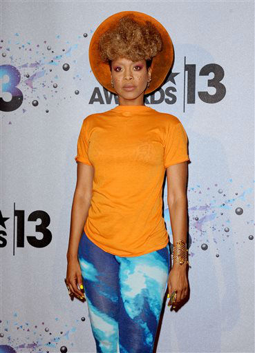 Erykah Badu backstage at the BET Awards at the Nokia Theatre on Sunday, June 30, 2013, in Los Angeles. &#40;Photo by Scott Kirkland&#47;Invision&#47;AP&#41; <span class=meta>(AP Photo&#47; Scott Kirkland)</span>