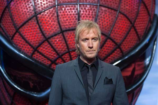 Actor Rhys Ifans arrives for the German premiere of the movie 'The Amazing Spider- Man in Berlin, Wednesday, June 20, 2012. (AP Photo/Markus Schreiber)