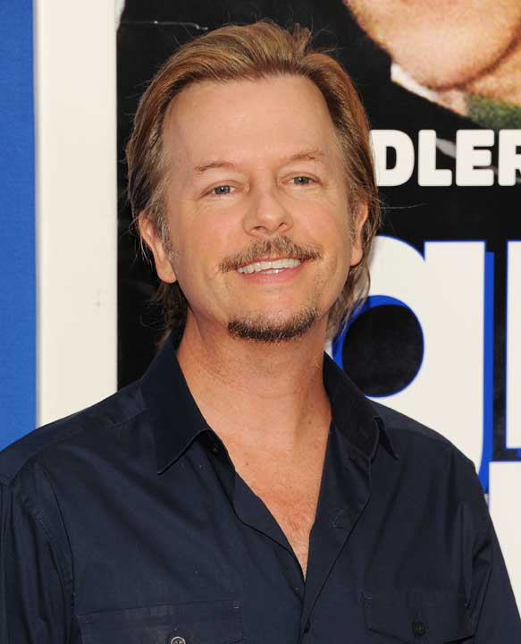 "Actor David Spade attends the premiere of ""Grown Ups 2"" at the AMC Loews Lincoln Square on Wednesday, July 10, 2013 in New York. (Photo by Evan Agostini/Invision/AP)"