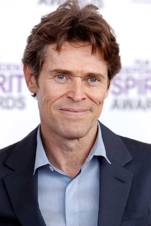 Willem Dafoe arrives at the Independent Spirit Awards on Saturday, Feb. 25, 2012, in Santa Monica, Calif. (AP Photo/Joel Ryan)