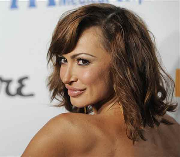 Karina Smirnoff arrives at the Esquire House LA Opening Night Event and International Medical Corps Benefit in Beverly Hills, Calif., Friday, Oct. 15, 2010. (AP Photo/Chris Pizzello)