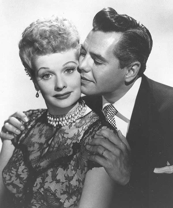 Lucille Ball as Lucy Ricardo on &#39;I Love Lucy&#39;    Comedian-actress Lucille Ball and her husband, musician-actor Desi Arnaz, are shown in this undated photo. &#40;AP Photo&#41; <span class=meta>(AP)</span>