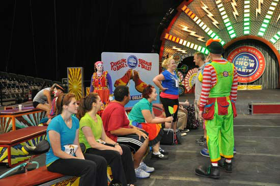 Ringling Bros. and Barnum &#38; Bailey held a once-in-a-lifetime opportunity at Reliant Wednesday, July 25, 2012, for aspiring clowns to audition to become part of the World Famous circus. <span class=meta>(KTRK Photo)</span>