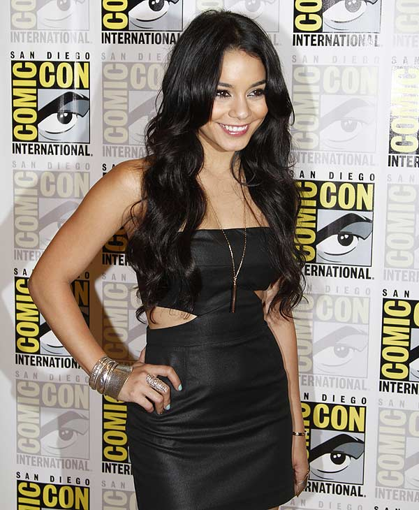 "Actress Vanessa Hudgens poses at a press line before a panel for the movie ""Sucker Punch"" at Comic-Con International Saturday, July 24, 2010 in San Diego. (AP Photo/Denis Poroy)"