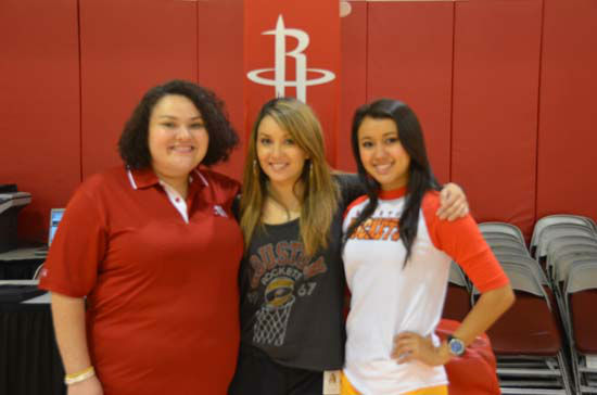 "<div class=""meta ""><span class=""caption-text "">Houston Rockets Dance Coach and Choreographer Natalie Alvarado is glad to be back in the Houston area with her family. (KTRK Photo/ Blanca Beltran)</span></div>"