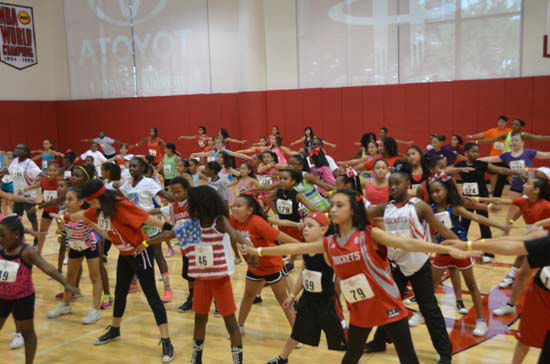 The Rockets organization held its auditions for the top Little Dippers  at Toyota Center, Saturday, July 28th.  These performers &#40;boys and girls agest 6-14&#41; will entertain fans during player introductions, timeouts and halftime. <span class=meta>(KTRK Photo&#47; Blanca Beltran)</span>