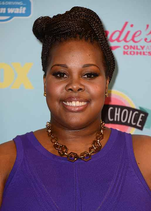 Amber Riley poses backstage at the Teen Choice Awards at the Gibson Amphitheater on Sunday, Aug. 11, 2013, in Los Angeles.   Riley, best known for her role on the series &#34;Glee&#34; as Mercedes Jones, is one of the celebrities rumored to be on the dance floor on this season of &#34;Dancing with the Stars.&#34;  Watch the official announcement of the cast during &#34;Good Morning America&#34; on Wednesday.  Season 17 of &#34;Dancing with the Stars&#34; kicks off on Monday, September 16. <span class=meta>(&#40;Photo by Jordan Strauss&#47;Invision&#47;AP&#41;)</span>