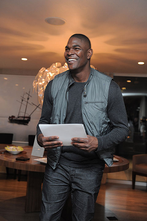 Former NFL star and ESPN analyst Keyshawn Johnson enterains guests at LG Electronics Party At The 2010 Esquire House on October 28, 2010 in Los Angeles, California.  Johnson&#39;s name has come up among the celebrities rumored to take to the dance floor. Watch the official announcement of the cast during &#34;Good Morning America&#34; on Wednesday.  Season 17 of &#34;Dancing with the Stars&#34; kicks off on Monday, September 16. <span class=meta>(&#40;Photo by Jordan Strauss&#47;Invision&#47;AP Images&#41;)</span>
