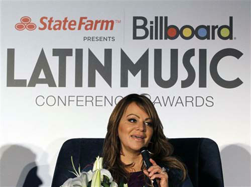Singer Jenni Rivera talks to a reporter in Miami, Wednesday, April 25, 2012. &#40;AP Photo&#47;Alan Diaz&#41; <span class=meta>(Photo&#47;Alan Diaz)</span>