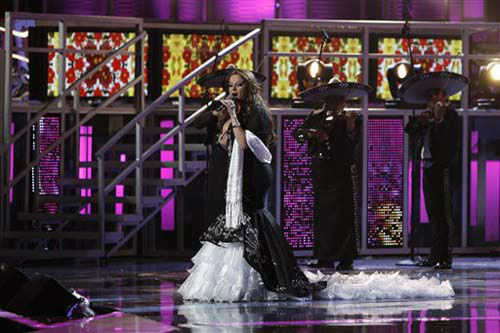 Jenni Rivera performs at the 9th annual Latin Grammy Awards on Thursday, Nov. 13, 2008 in Houston. &#40;AP Photo&#47;Matt Sayles&#41; <span class=meta>(Photo&#47;Matt Sayles)</span>