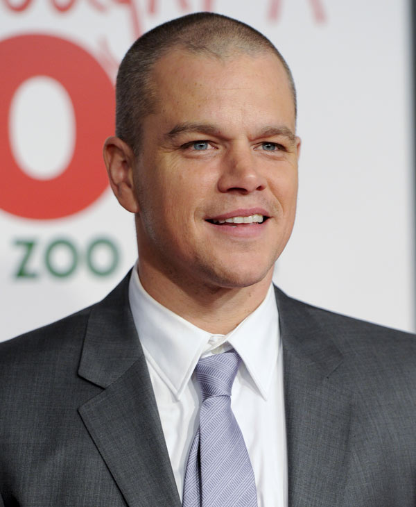 "'Sexiest Man Alive' in 2007:  Actor Matt Damon attends the premiere of ""We Bought A Zoo"" at the Ziegfeld Theatre on Monday, Dec. 12, 2011 in New York. (AP Photo/Evan Agostini)"