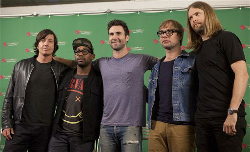 Members of the band Maroon 5, from U.S., pose for pictures during a press conference in Mexico City, Thursday, Aug. 16, 2012.  Maroon 5 performs at Rodeo Houston on Thursday, March 13, 2014. &#40;AP Photo&#47;Alexandre Meneghini&#41; <span class=meta>(AP Photo&#47; Alexandre Meneghini)</span>