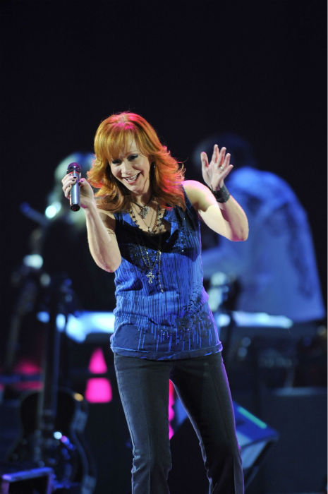 Reba McEntire performs during a concert, Friday, Jan. 22, 2010, in Baltimore.(AP Photo/Gail Burton)