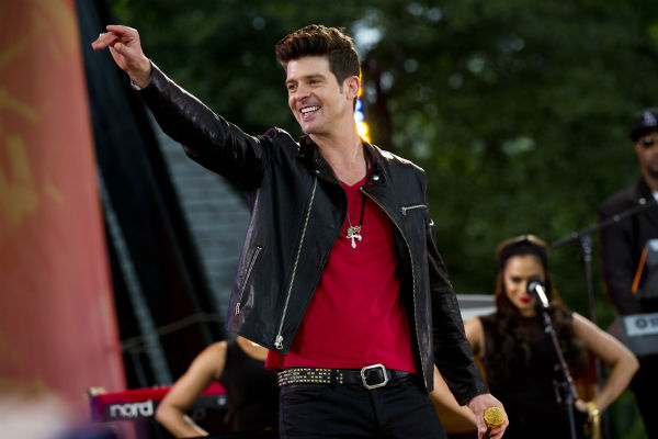 Robin Thicke performs on ABC&#39;s &#34;Good Morning America&#34; show, in New York, Friday, May 25, 2012. Robin Thicke performs at Rodeo Houston on Tuesday, March 18, 2014. &#40;AP Photo&#47;Charles Sykes&#41; <span class=meta>(AP Photo&#47; Charles Sykes)</span>
