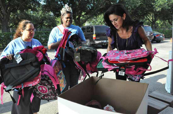The 8th annual YMCA Operation Backpack runs until 6pm today at the ABC13 Studios.  There are other drop-off locations around town.  ABC-13 reporter Elissa Rivas and her family made a donation for the first 113 people who liked her Facebook page.  <span class=meta>(ABC13)</span>