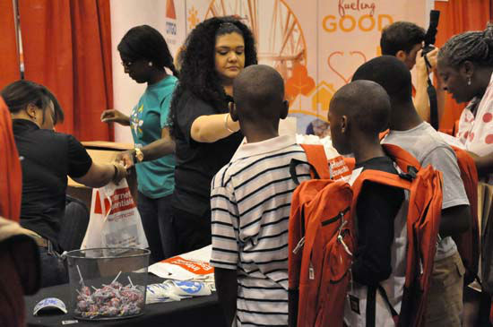 Shell teamed up with HISD and the City of Houston to host 2012&#39;s Back to School Fest Saturday, August 11,2012 at Reliant Center.  They gave away backpacks, school supplies, uniforms, immunizations to help get students ready for the school year. <span class=meta>(Photo&#47;ABC13)</span>