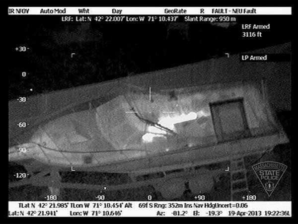 "<div class=""meta image-caption""><div class=""origin-logo origin-image ""><span></span></div><span class=""caption-text"">Thermal images taken from the Massachusetts State Police Air Wing during the Watertown manhunt for Boston marathon bombing suspect Dzhokhar Tsarnaev. (Massachusetts State Police)</span></div>"