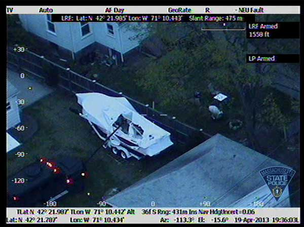 "<div class=""meta ""><span class=""caption-text "">Aerial photos taken from the Massachusetts State Police Air Wing during the Watertown manhunt for Boston marathon bombing suspect Dzhokhar Tsarnaev. (Massachusetts State Police)</span></div>"