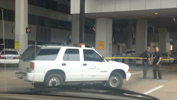 "<div class=""meta image-caption""><div class=""origin-logo origin-image ""><span></span></div><span class=""caption-text"">Bush Intercontinental Airport became the scene of intense police activity after a man at a ticket counter in Terminal B shot and killed himself Thursday afternoon. (KTRK Photo)</span></div>"