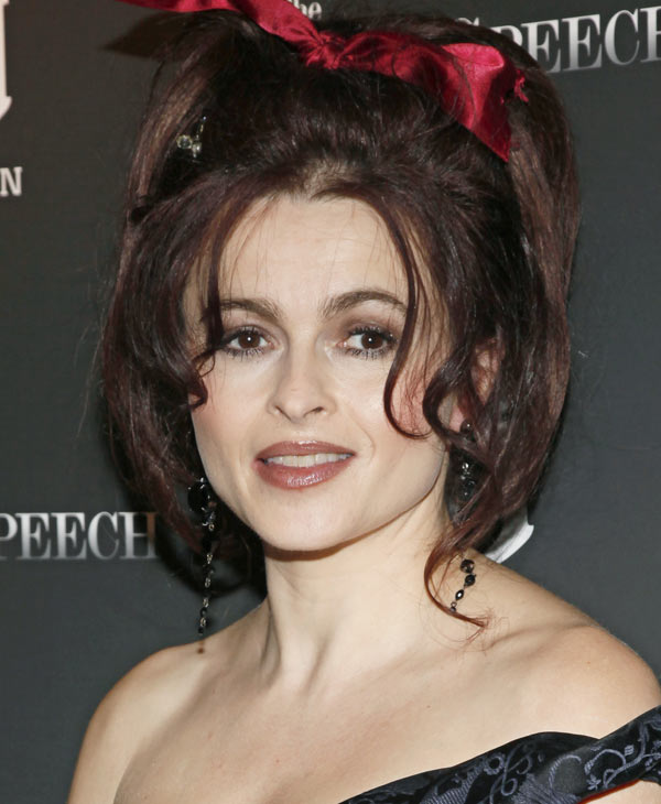 "Helena Bonham Carter arrives to the premiere of ""The Kings Speech"" in New York, Monday, Nov. 8, 2010. The film is based on the true story of King George VI and his remarkable friendship with maverick Australian speech therapist Lionel Logue. (AP Photo/Stuart Ramson)"