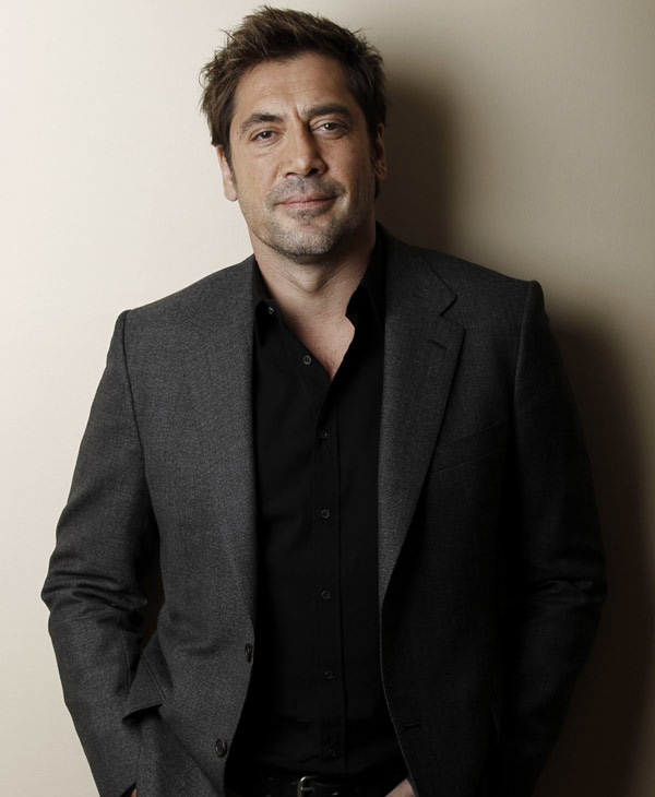 "In this Dec. 16, 2010 file photo, actor Javier Bardem poses for a portrait in Beverly Hills, Calif. Bardem was nominated for an Academy Award for best actor for his role in ""Biutiful,"" Tuesday, Jan. 25, 2011. The Oscars will be presented Feb. 27 at the Kodak Theatre in Hollywood. (AP Photo/Matt Sayles, file)"