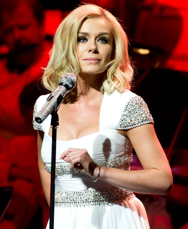 British singer, Katherine Jenkins performs at the New Oxford Theatre, Oxford, Saturday, Jan. 7, 2012.  Jenkins will be among the 12 celebrity contestants on the next season of the ABC dancing competition, premiering March 19. (AP Photo)