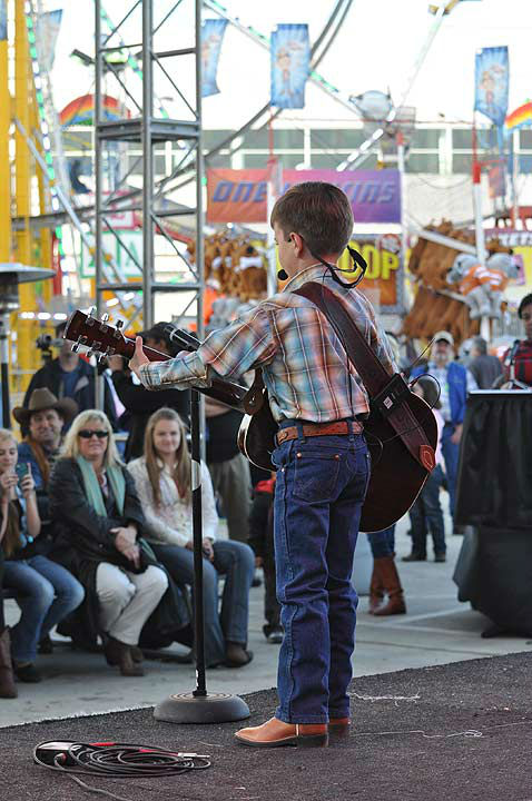 Back again after the 2012 debut, Rodeo Rockstar brings musical talent to the Houston Livestock Show and Rodeo once again.  Young musicians audition by uploading their videos online, then compete in two divisions ? Junior for ages 6 to 15 and Youth for ages 16 to 21.  A wide range of musical talent rocked the Kids Country Stage during the preliminary round on Tuesday, March 5, 2013.   Strutting their stuff for judges and audience members, the finalists return on Tuesday, March 12, 2013. <span class=meta>(KTRK Photo)</span>