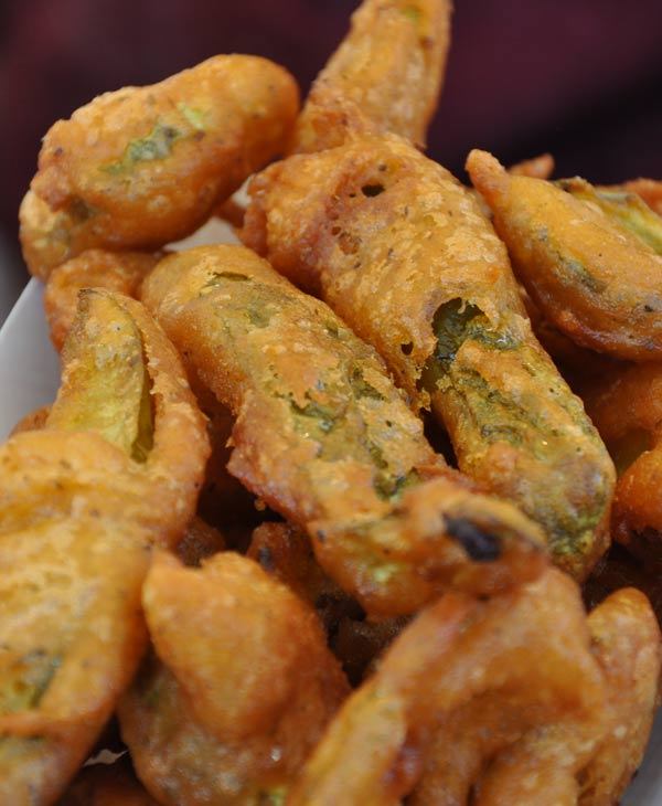 Fried pickles from the &#39;Fried What!&#39; stand at the Houston Rodeo Carnival &#40;Photo by: Blanca Beltran&#41; <span class=meta>(KTRK)</span>