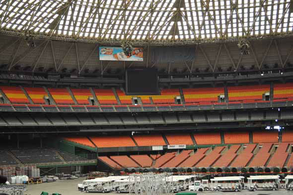 "<div class=""meta ""><span class=""caption-text "">Officials gave the media a tour of what's left of the Astrodome on March 21, 2013. (KTRK Photo)</span></div>"