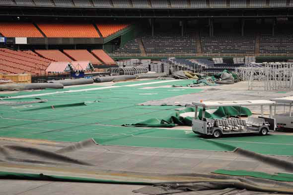 Officials gave the media a tour of what&#39;s left of the Astrodome on March 21, 2013. <span class=meta>(KTRK Photo)</span>
