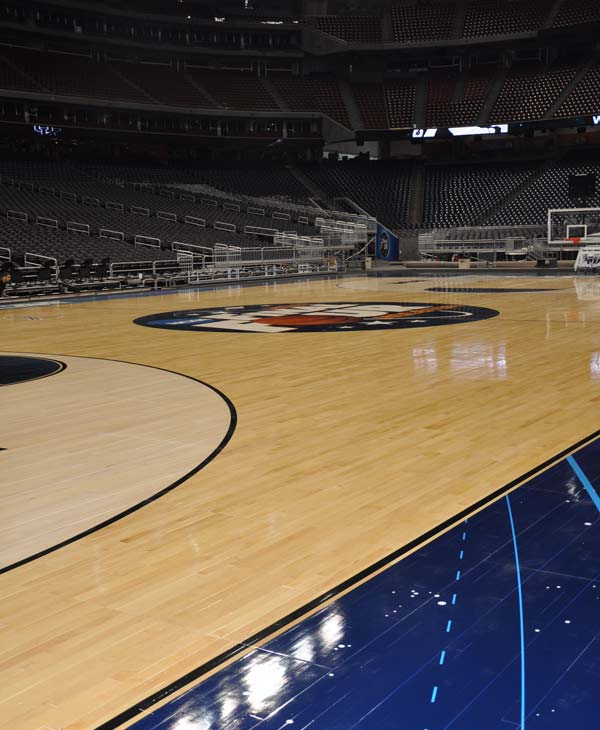 Reliant Stadium is being transformed as the eyes of the basketball world focus squarely on Houston for the Final Four <span class=meta>(KTRK)</span>