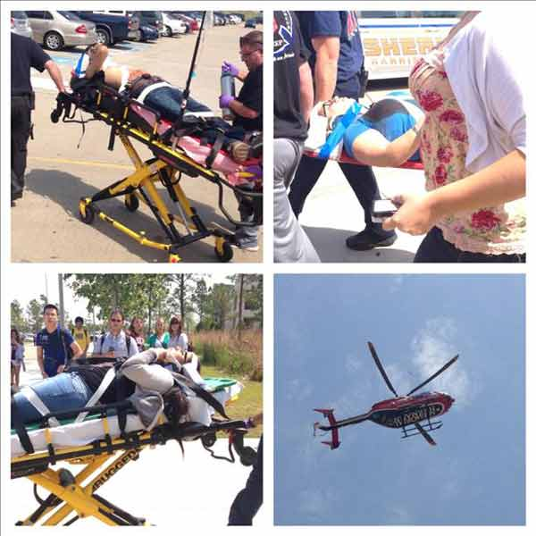 These are viewer photos from the stabbing at Lone Star College in Cy-Fair on Tuesday <span class=meta>(iWitness Reports)</span>