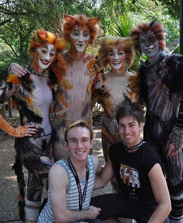 Cast members from CATS visit the big cat...