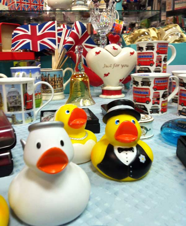 The British Isles hosted a royal wedding party in the Rice Village and showed off their collectibles (Photo by: Elissa Rivas)