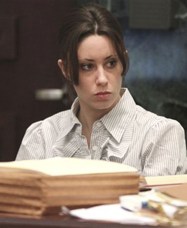 "<div class=""meta ""><span class=""caption-text "">Casey Anthony sits at the defense table, in Orlando, Fla., Wednesday, May 25, 2011 during the second day of her trial. Anthony, 25, is charged with first-degree murder in the death of her daughter, Caylee. If convicted, Anthony could be sentenced to death. She has pleaded not guilty. (AP Photo/Red Huber, Pool)</span></div>"