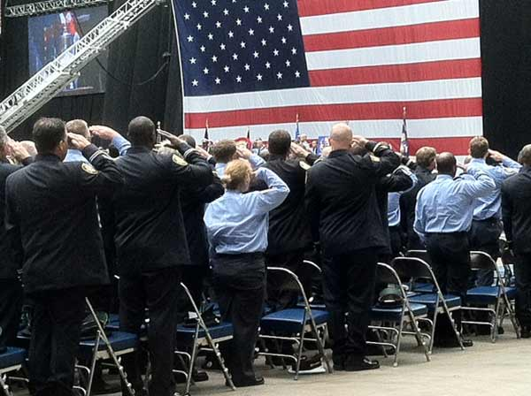 Photos from inside Reliant Stadium during memorial service for four fallen firefighters <span class=meta>(ABC13&#47;Deborah Wrigley)</span>