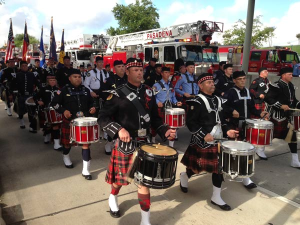 "<div class=""meta ""><span class=""caption-text "">Just outside Reliant Stadium, as firefighters arrive this morning for the firefighter memorial service (ABC13/Linh Nguyen)</span></div>"