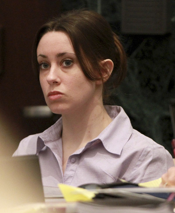Casey Anthony listens to testimony during her trial at the Orange County Courthouse, Monday, June 6, 2011, in Orlando, Fla. Anthony, 25, is charged with killing her daughter Caylee in the summer of 2008. (AP Photo/Joe Burbank, Pool)